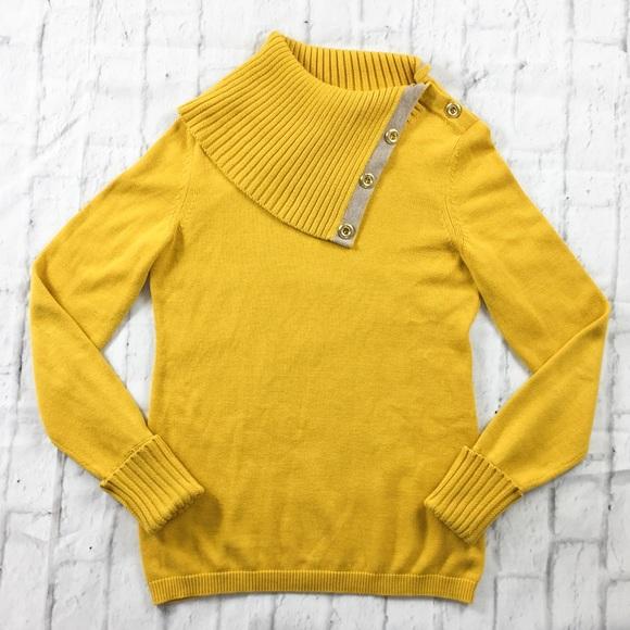 73% off Banana Republic Sweaters - Banana Republic Mustard Yellow ...